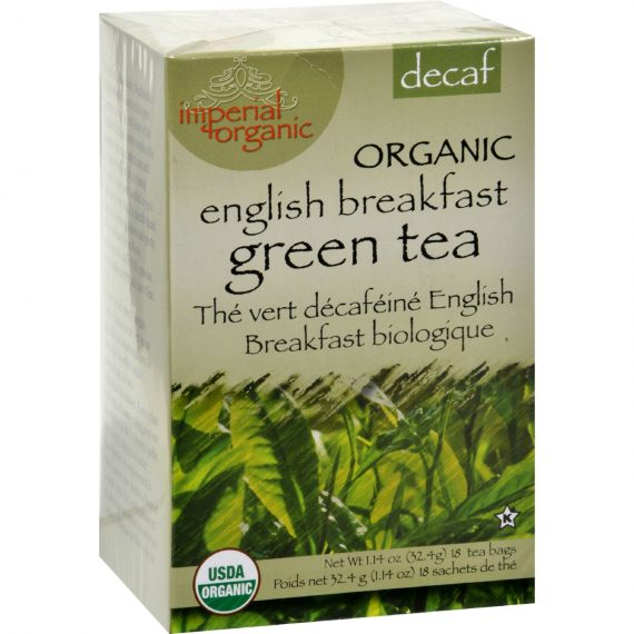 Uncle Lee's Imperial Organic Decaffeinated English Breakfast Green Tea – 18 Tea Bags