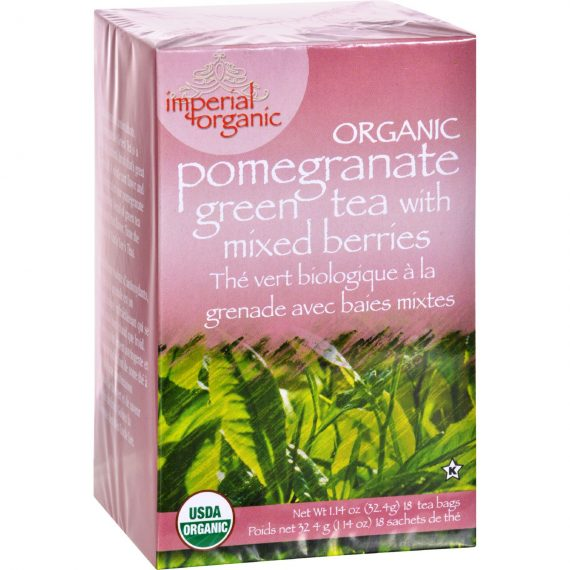 Uncle Lee's Imperial Organic Pomegranate Green Tea with Mixed Berries – 18 Tea Bags
