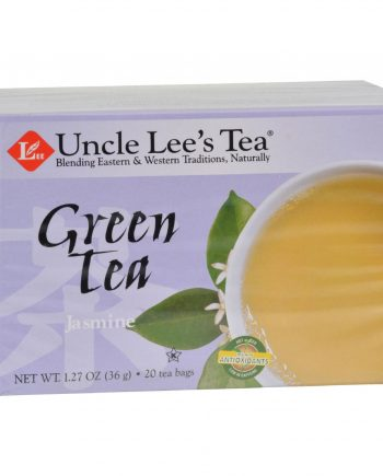 Uncle Lee's Tea Green Tea - Jasmine - Case of 6 - 20 Bags