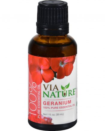 Via Nature Essential Oil - 100 Percent Pure - Geranium - 1 fl oz