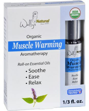 Wallys Natural Products Aromatherapy Blend - Organic - Roll-On - Essential Oils - Muscle Warming - .33 oz