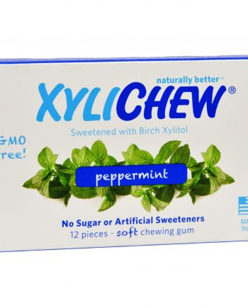 Xylichew Gum - Peppermint - Counter Display - 12 Pieces - 1 Case