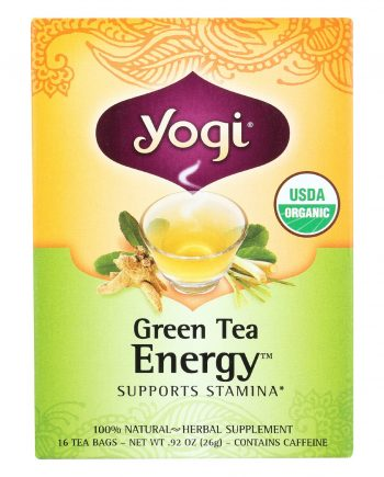 Yogi Green Tea - Energy - Case of 6 - 16 Bags