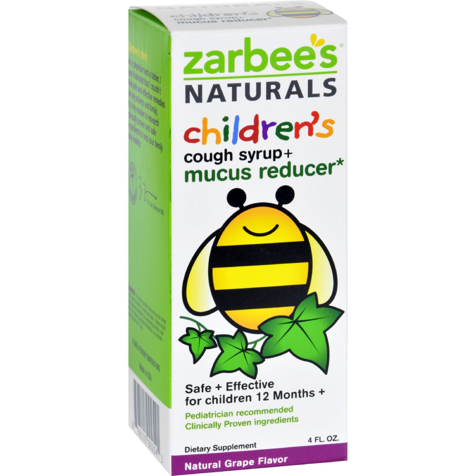 Zarbee S Naturals Children S Mucus Relief Cough Syrup