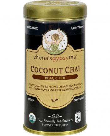 Zhena's Gypsy Tea Coconut Chai Black Tea - Case of 6 - 22 Bags