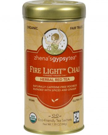 Zhena's Gypsy Tea Fire Light Chai Herbal Red Tea - 22 Tea Bags