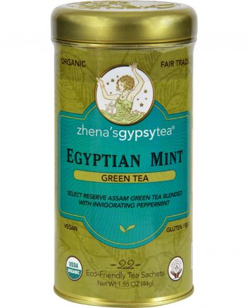 Zhena's Gypsy Tea Organic Egyptian Mint - Case of 6 - 22 Bags