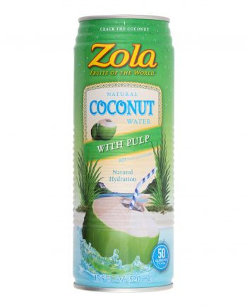 Zola Acai Coconut Water - Pulp - Case of 12 - 17.5 Fl oz.