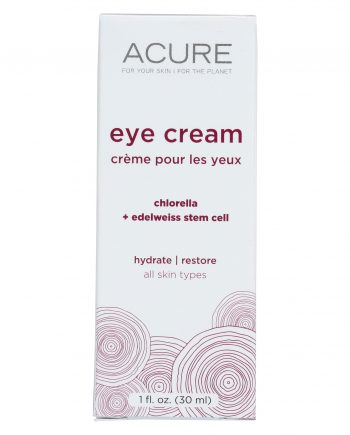 Acure Eye Cream - Chlorella and Edelweiss Stem Cell - 1 FL oz.