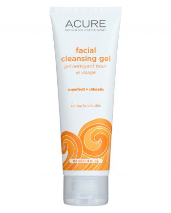 Acure Facial Cleansing Gel - Superfruit and Chlorella - 4 FL oz.