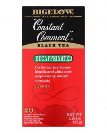 Bigelow Tea Constant Comment Decaffeinated Black Tea - Case of 6 - 20 Bags