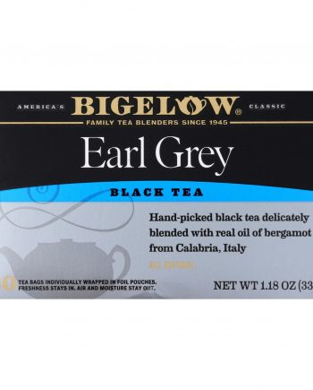 Bigelow Tea Earl Grey Black Tea - Case of 6 - 20 Bags