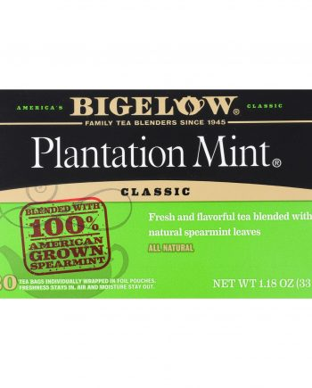 Bigelow Tea Plantation Mint Black Tea - Case of 6 - 20 Bags
