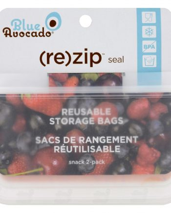 Blue Avocado (Re) Zip Seal Snack Bag - Translucent