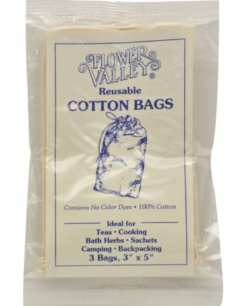Flower Valley Reusable Cotton Bags - 3 Bags - Case of 12