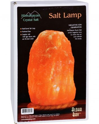 Himalayan Salt Lamp 10 inch Wood Base
