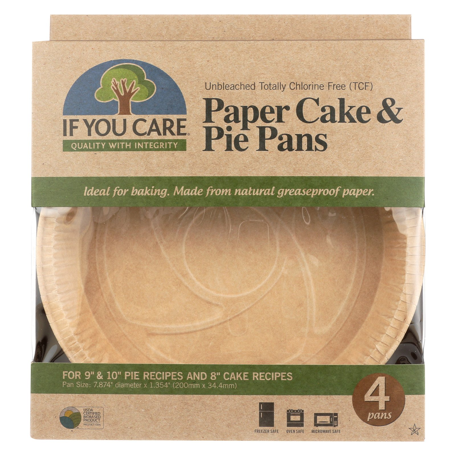 If You Care Pie Baking Pans Paper Cake Case Of 6 4