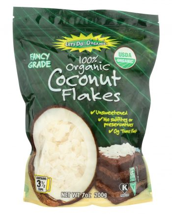 Let's Do Organics Coconut Flakes - Case of 12 - 7 oz.