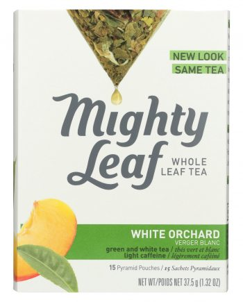 Mighty Leaf Tea White Tea - White Orchard - Case of 6 - 15 Bags