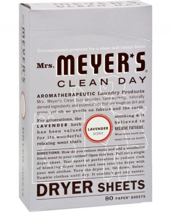 Mrs. Meyer's Dryer Sheets - Lavender - 80 Sheets