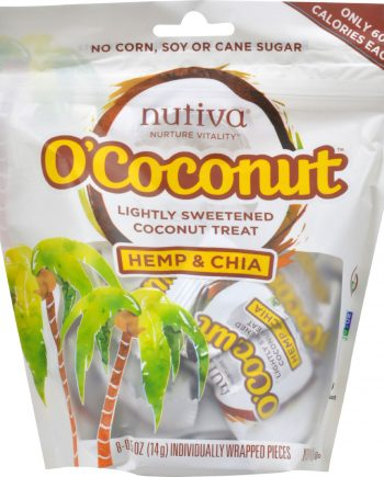Nutiva OCoconut Snack - Organic - Hemp and Chia - 4 oz - Case of 8