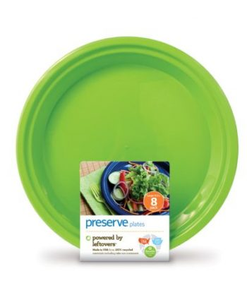 Preserve On the Go Large Reusable Plates - Apple Green - 8 Pack - 10.5 in