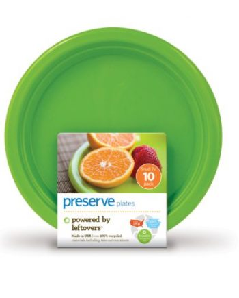 Preserve On the Go Small Reusable Plates - Apple Green - 10 Pack - 7 in