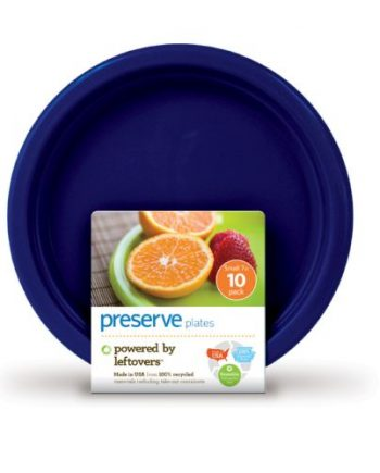 Preserve On the Go Small Reusable Plates - Midnight Blue - Case of 12 - 10 Pack - 7 in