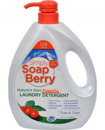 Simply SoapBerry Laundry Detergent - Free and Clear - 32 oz