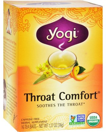 Yogi Tea Organic - Throat Comfort - Caffeine Free - 16 Tea Bags