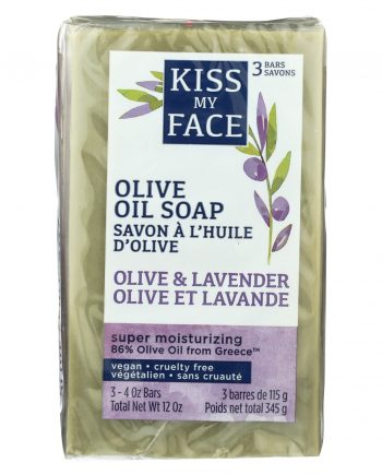 Kiss My Face Bar Soap - Pure Olive Oil & Lavender - 3/4 oz