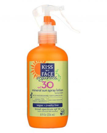 Kiss My Face Mineral Sun Spray Lotion - S30 - 8 fl oz