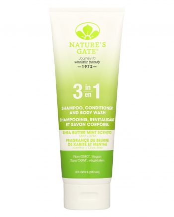 Nature's Gate 3 in 1 Shampoo - Conditioner & Body Wash - Shea Butter Mint - 8 fl oz