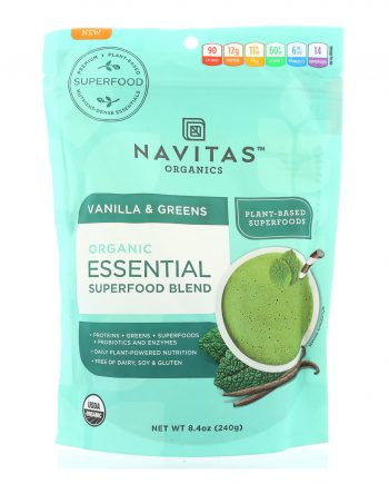 Navitas Naturals Organic Essential Superfood Blends - Vanilla & Greens - 8.4 oz
