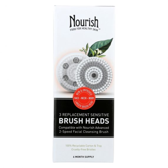 Nourish Replacement Brush Heads – 3 count