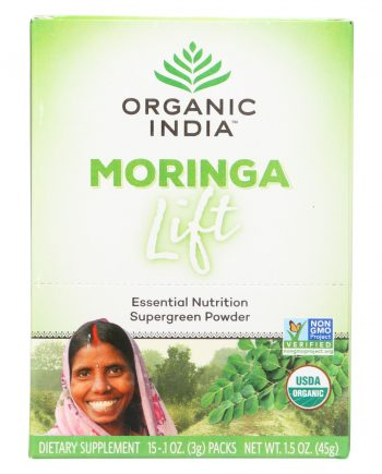 Organic India Lift Box - Moringa - 15 count
