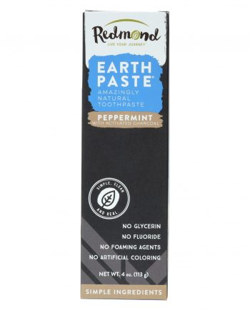 Redmond Life Earthpaste - Peppermint Charcoal - 4 oz