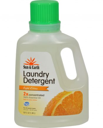 Sun and Earth Natural Laundry Detergent - Light Citrus - 50 oz