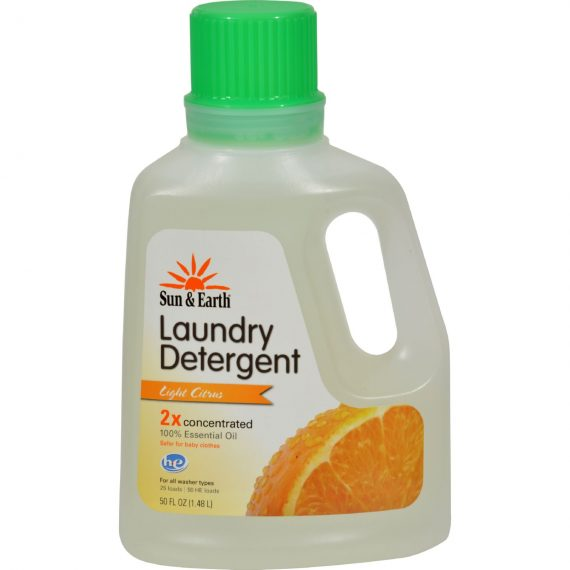 Sun and Earth Natural Laundry Detergent – Light Citrus – 50 oz