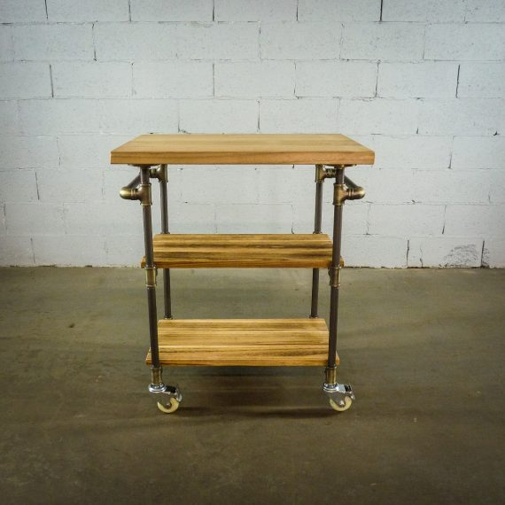Hoboken Rustic Kitchen Cart