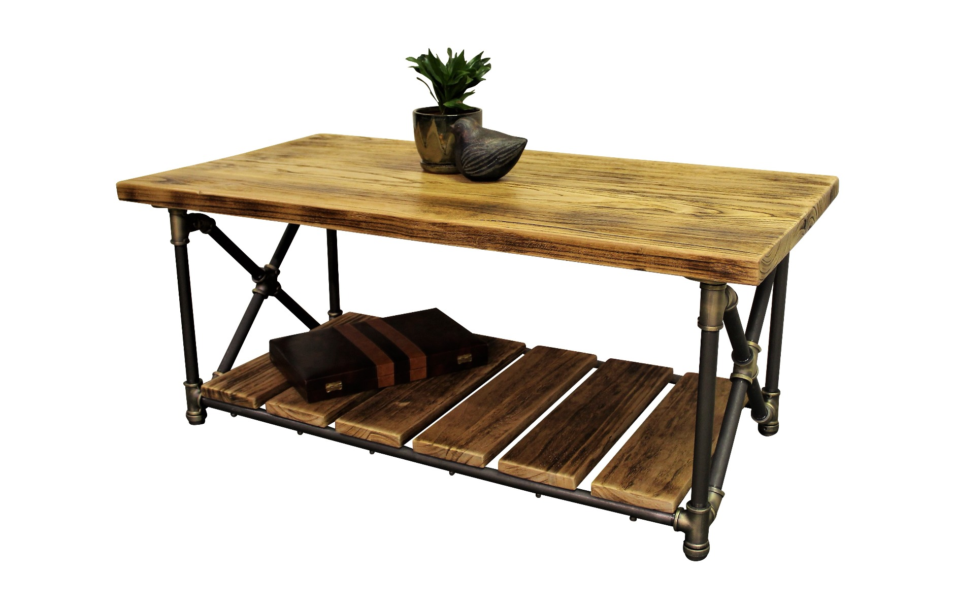 Houston Industrial Chic Coffee Table CTX1 BRGRNA 2