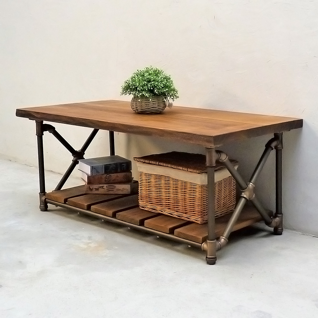 Houston Industrial Chic Coffee Table CTX1 BZBZBR 5