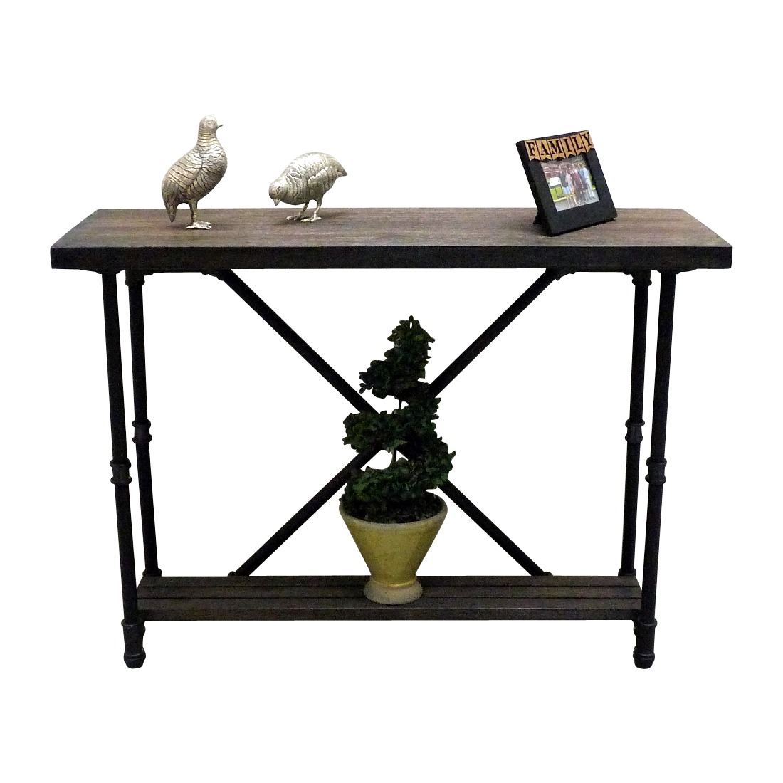 Houston Industrial Chic Console Table SFX1 BLBLBL 7