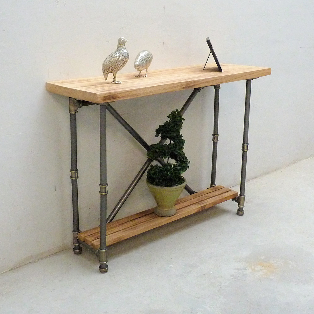 Houston Industrial Chic Console Table SFX1 BRGRNA 9