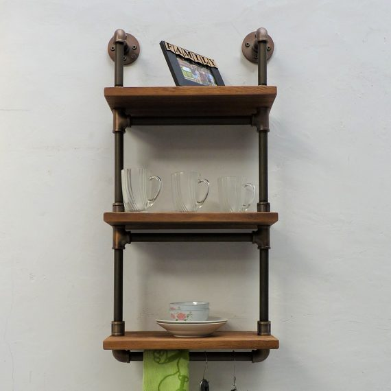 Juneau Industrial Wall Mounted Etagere Rack