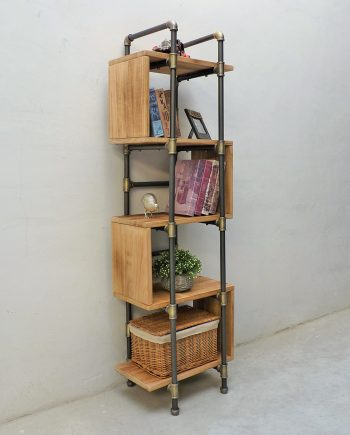 Tucson Modern Industrial Etagere Bookcase Display